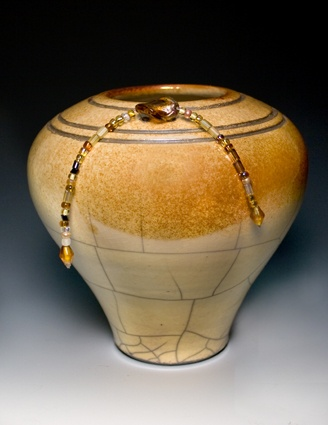 Golden Raku Pottery -