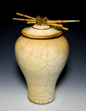 Golden Raku Pottery - Grace
